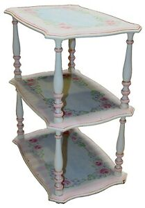 Vintage-French-Provincial-Style-Three-Tier-Side-Table