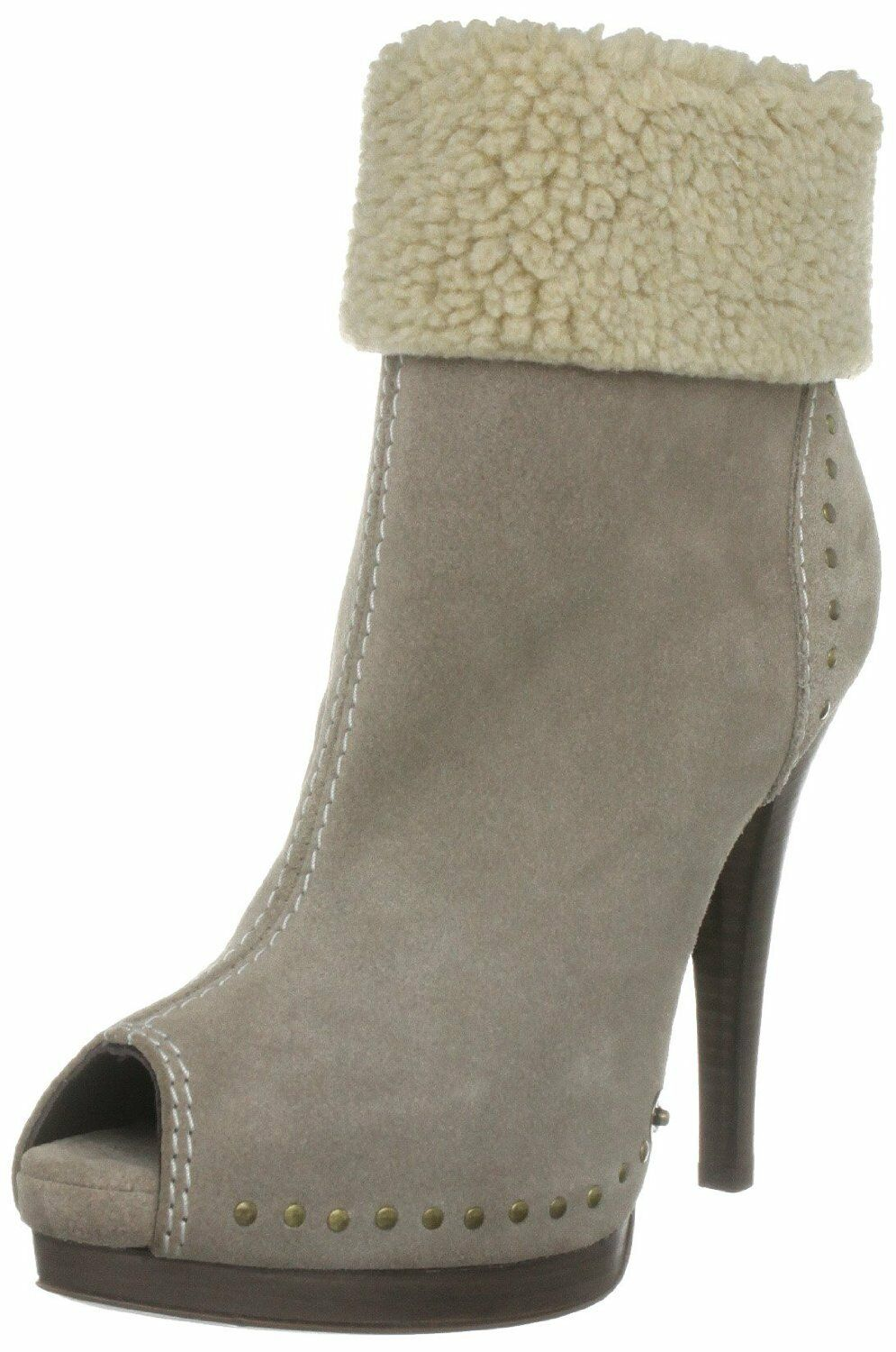 BNWB MISS SIXTY SIZE 5 6 6.5 7 7.5 8 NINA BEIGE SUEDE ANKLE BOOTS Schuhe