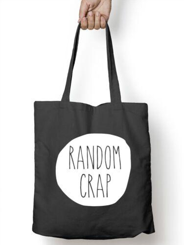Random Crap Tote Bag Shopping Gift Present Teenager Blogger Vlogger Girls  M03
