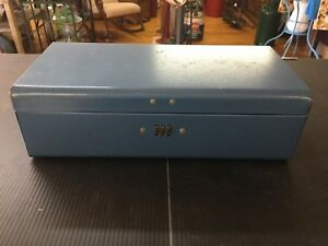 Historical Memorabilia Vintage Penn Mutual Insurance Durham Policy Box Combination Sesamee Lock Blue