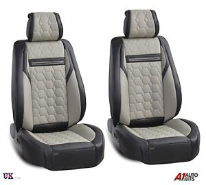 Image Is Loading High Quality Deluxe Grey PU Leather Front Car