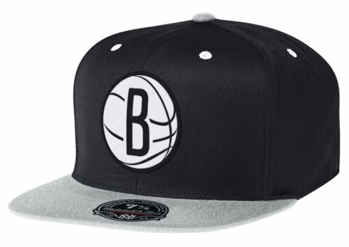 BROOKLYN NETS Mitchell /& Ness 2 Tone High Crown Fitted NBA Hat Basketball Cap BK