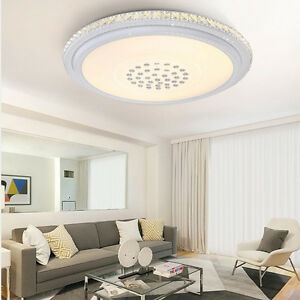 48w deckenleuchte kristall led warmwei deckenlampe modern lampe wandlampe licht ebay. Black Bedroom Furniture Sets. Home Design Ideas