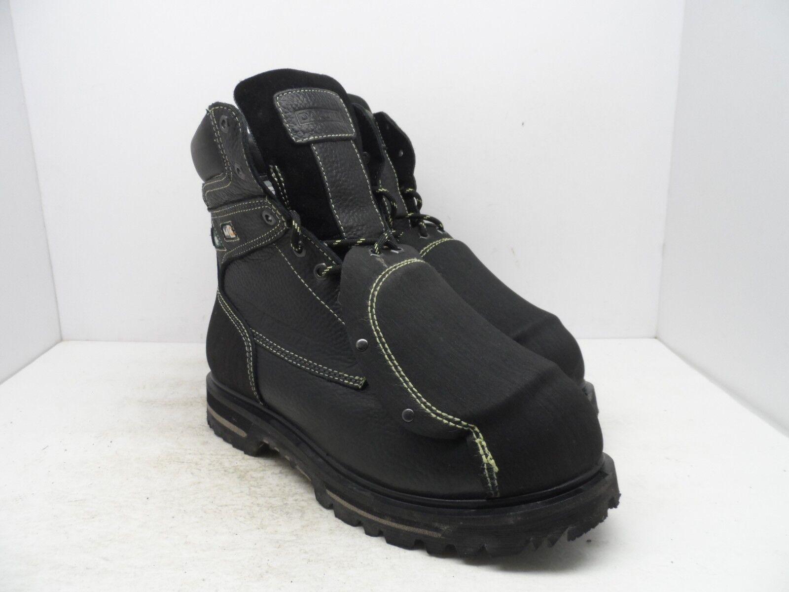 DAKOTA Men's 8'' Guard Steel Toe Steel Plate Metguard Work Boots Black 12M
