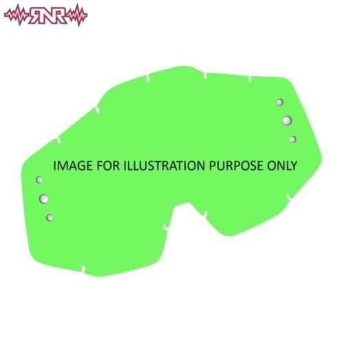 Green Rip N Roll RNR Colossus XL Roll Off Motocross Goggle Lens