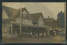 OR Woodburn RPPC 1909 STREET Grocery Store PORTLAND HOTEL Millinery MESSAGE ooak