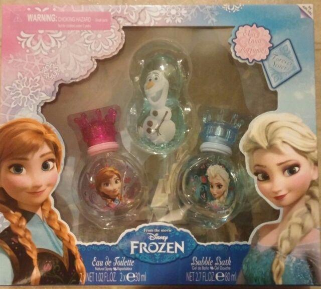 Disney Frozen Elsa, Anna, Forever Sisters Perfume Olaf Bubble Bath Gift Set New