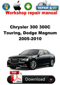 chrysler 300 300c touring dodge magnum 2005 2010 workshop repair rh ebay com