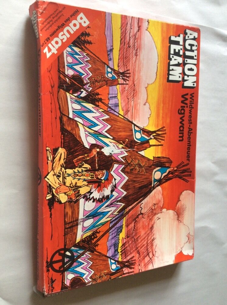 GI Joe Action Team    WILD WEST WIGWAM  1970 HASBRO NEW IN BOX fe0fa3
