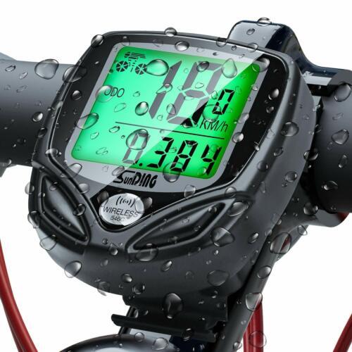 Fahrradcomputer Kabellos 16 Funktionen Wasserdicht Geschwindigkeit Fahrradtacho