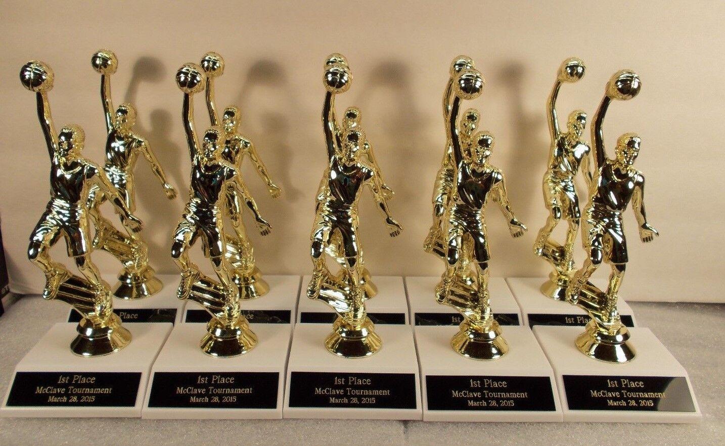 Jóvenes baloncesto trofeos m o f Lote de 10 Gratis  Grabado Gratis entrenador Premio  respuestas rápidas