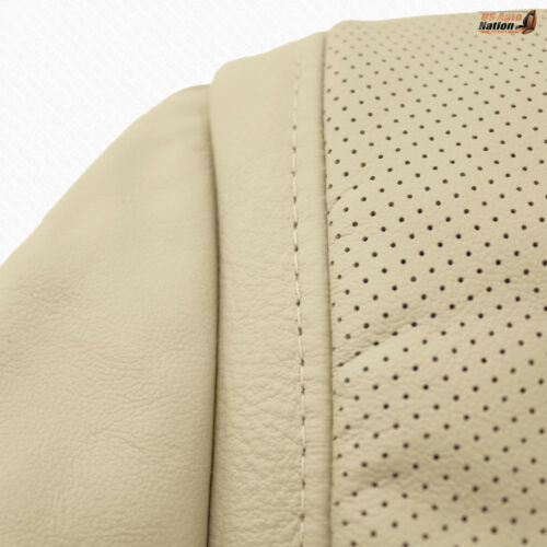 Driver Bottom Perforated Leather Replacement Cover Tan For 2008-2014 LexusLX570