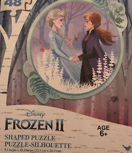 Frozen-Puzzle-Circle-Shaped-Anna-Disney-48-piece-NIB