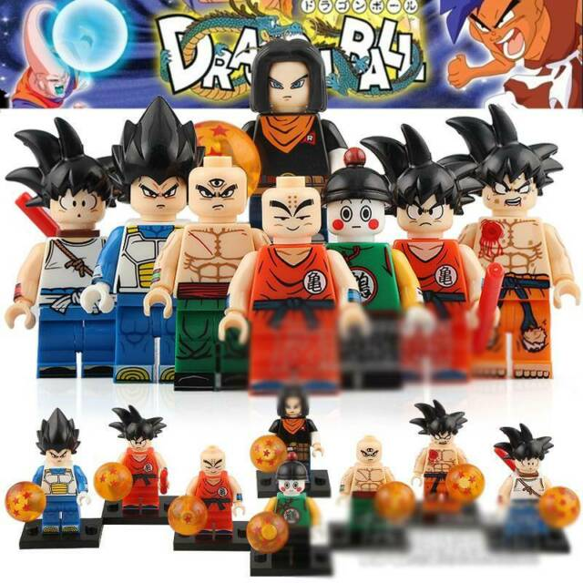 24pcs Dragon Ball Z Action For Lego Figure Super Goku Building Block Toy Heroes