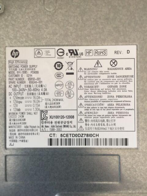 HP RP5800 240W PSU 659193-001 659246-001