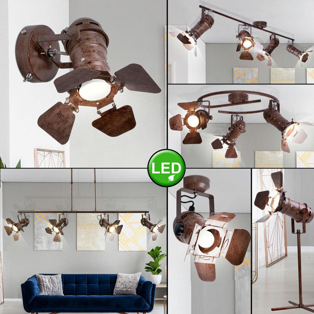 LED Retro Decken Pendel Strahler beweglich Wohnraum Tisch Wand Lampen rostfarben