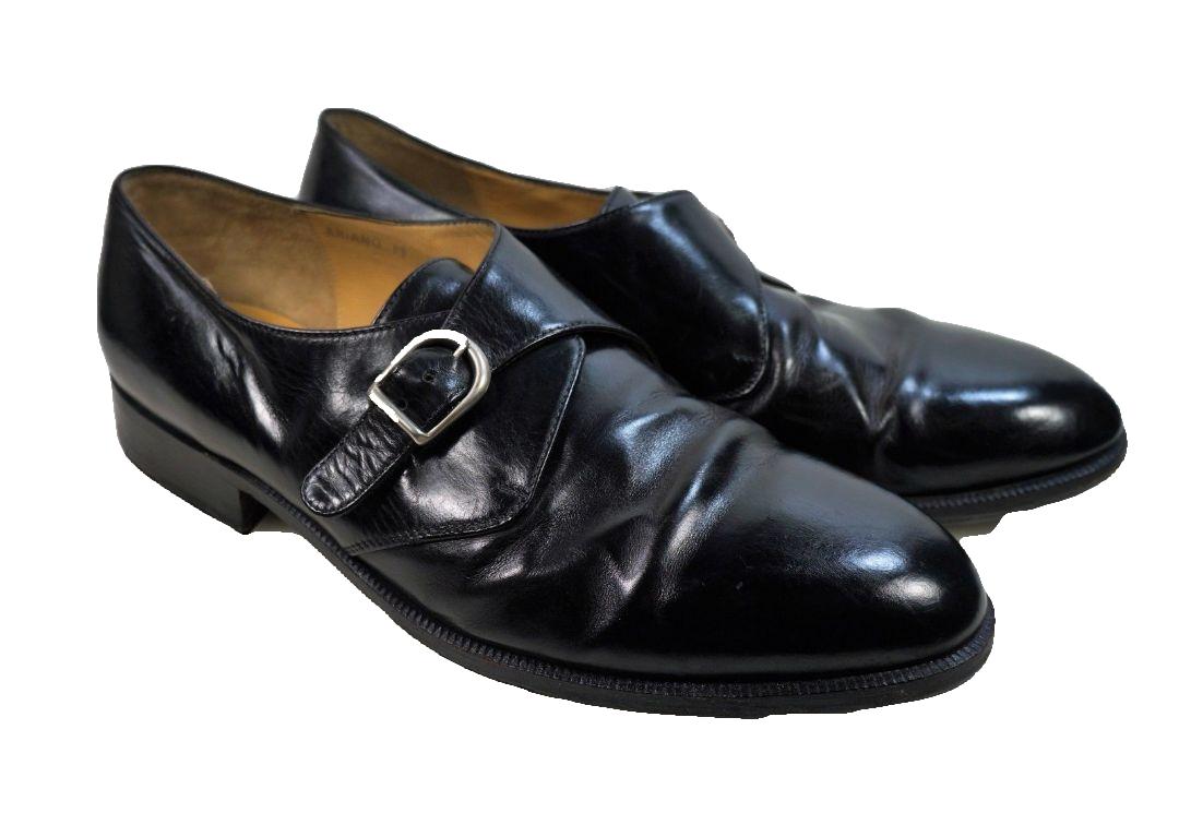 Dino Monti Ariano Men's Black Size 11 D Monk Strap Oxford Dress shoes