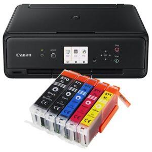 Canon-Pixma-TS-5050-Multifunktionsgeraet-DRUCKER-SCANNER-KOPIERER-mit-5x-XL-Tinte
