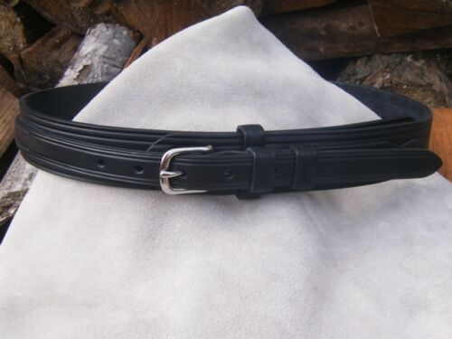 """Hand Made English Bridle Leather Ranger Belt Brass or Stainless 3//4/"""" Buckle"""