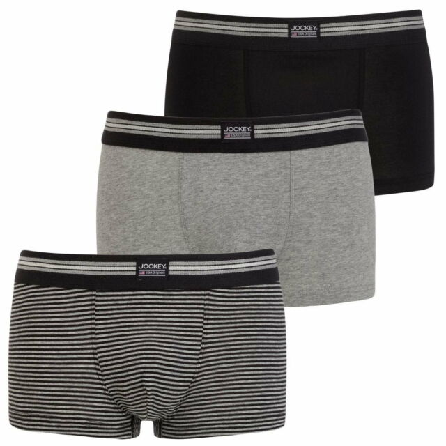 58ef125c91f5 Mens Jockey USA Originals Cotton Stretch Boxer Short Trunk Underwear ...