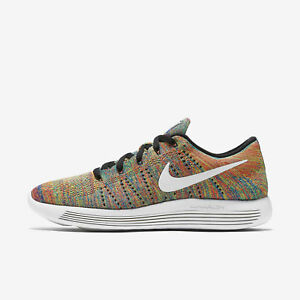 huge discount 984f5 cfe03 Image is loading Nike-LunarEpic-Low-Flyknit-Multicolor-Rainbow-Sample-Men-