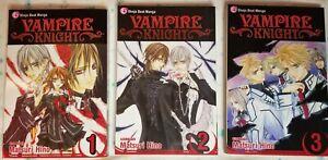 Vampire Knight Vol 1-3 manga
