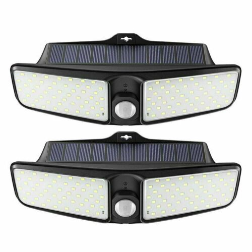 Solar Powered Light 100LED Outdoor PIR Motion Sensor Garden Yard Security Lamp