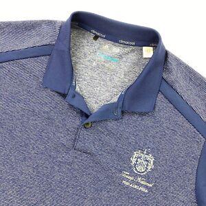 NEW-Trump-National-Men-s-Adidas-Climacool-Golf-Polo-Shirt-Blue-Stripes-Large