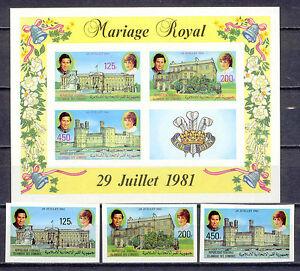 100% De Qualité La Princesse Diana, Lady, Royal Wedding-comores - 630-633 B, Bl.228 B ** Mnh-afficher Le Titre D'origine