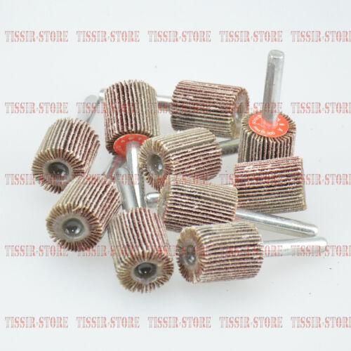 "10pcs 1//4/"" shank 20mmx25mm FLAP WHEELS//Polishing pad Sanding Sandpaper 80 Grit"