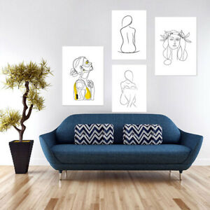 Abstract-Women-Canvas-Wall-Painting-Picture-Poster-Home-Decor-Unframed-Filmy