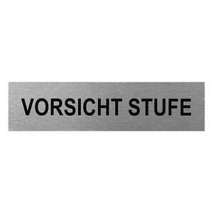 Plaque-034-Vorsicht-Niveau-034-Alu-Schild-160-X-40-MM-IN-Blanc-Il-Der