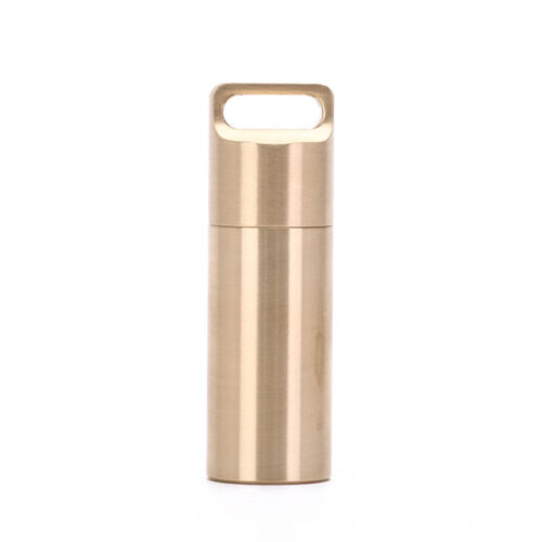 waterproof outdoor metal survival pill match edc case box container bottle FEH