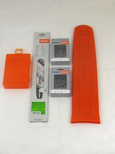 Stihl Rollomatic 37cm 1,6 3003 000 6811 Schutz 2xStihl Vollmeißelkette Box