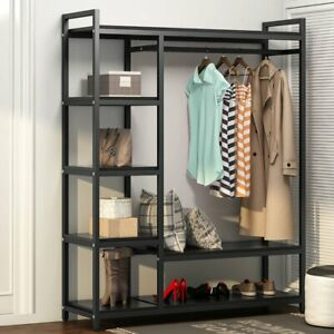 Closet Organizer Free Standing Clothes Hanger Rack With