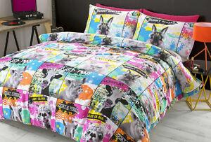 #bedding VINILE Copripiumino Set di biancheria da letto. ECCENTRICO animale singolo, matrimoniale, extra large  </span>