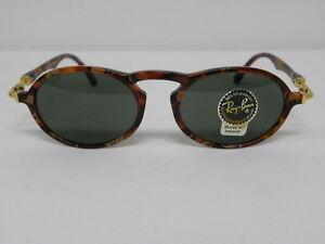 vintage ray ban sunglasses  New Vintage B\u0026amp;L Ray Ban Gatsby DLX 1 Oval Amber Gold Arista ...