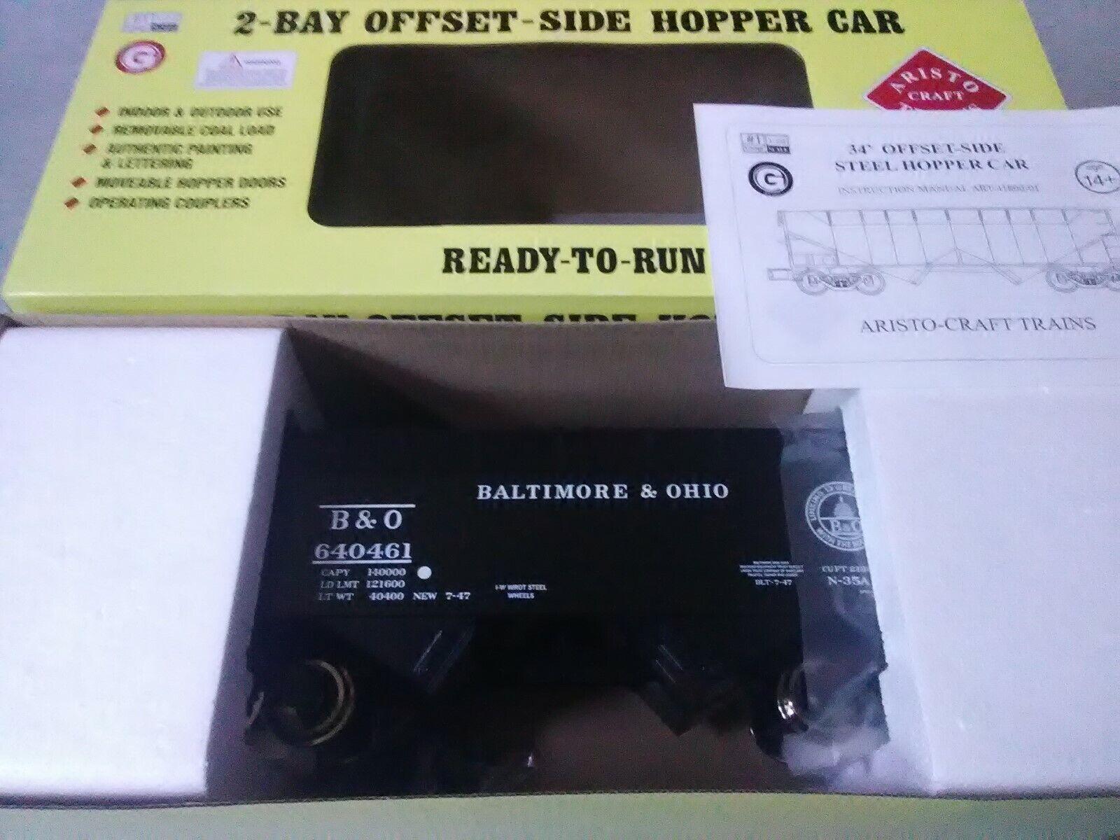 Aristo-Craft  G Baltimore & Ohio 2-Bay Coal Hopper w  Steel Wtalons ART41807FTSJT  être en grande demande