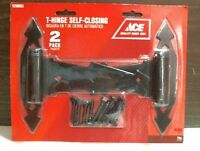 Ace 14365 Ornamental Gate T Hinges Self Closing 7 Black Pkg. Of 2 Free Ship