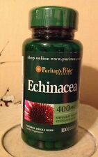 Puritan's Pride Echinacea 400 Mg ~ 100 Capsules ~ Supports Immune System Health