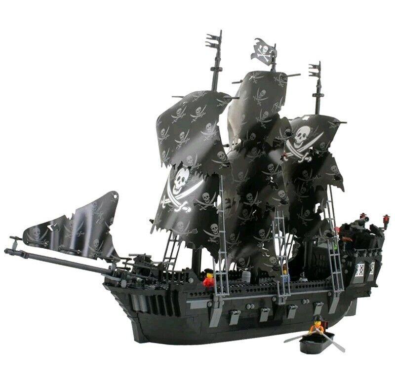 1184pcs Noir Bateau Pirate legoed blocs de jouets éducatifs Modèle Kit Garçons Cadeau