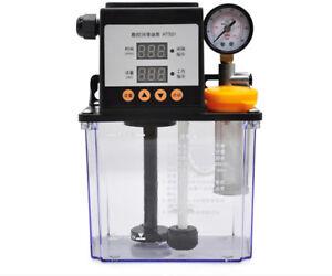 1L-Automatic-Lubrication-Pump-CNC-Machine-Electromagnetic-Pump-Pressure-Gauge