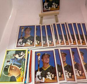 Vintage MLB Baseball lot of 19 Mark McGwire 1989 Bowman Cards + Bonus Cards