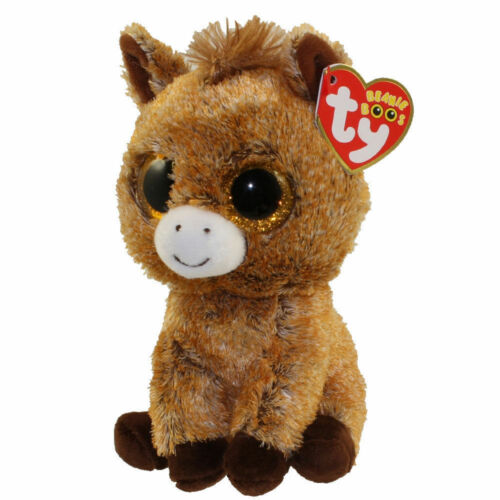 "6/"" TY Beanie Boos Glitter Eyes Unicorn Harriet New With Tag Plush Stuffed Toys"