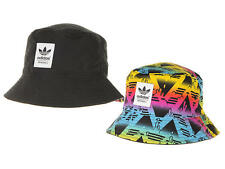 YOUTHS SIZE - ADIDAS REVERSIBLE ORIGINALS TREFOIL LOGO SOCCER BUCKET HAT - MULTI