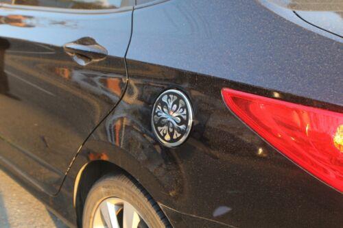 Fuel Gas Tank Door Cap Cover Chrome Molding 1P B319 for Hyundai ACCENT 2011~2016
