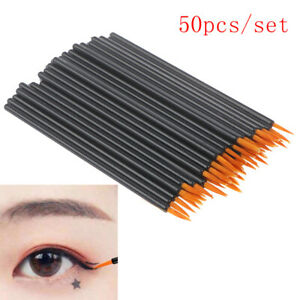 50Pcs-Disposable-Eyeliner-Brushes-Individual-Applicator-Fibre-Swab-Liner-Brush