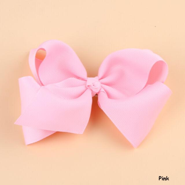 Hot Fashion Grosgrain Ribbon Bow Hair Clip Pin Aligator Clips Flower Baby/Girl