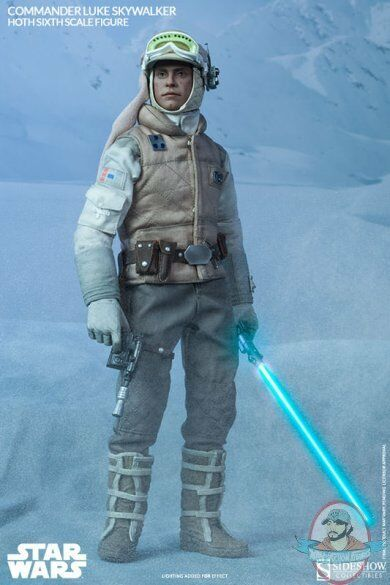 1 6 Scale Star Wars Commander Luke Skywalker Hoth Sideshow