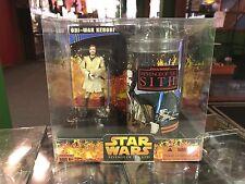 2005 Hasbro Star Wars Figure & Cup Revenge of the Sith OBI-WAN KENOBI Set MIB
